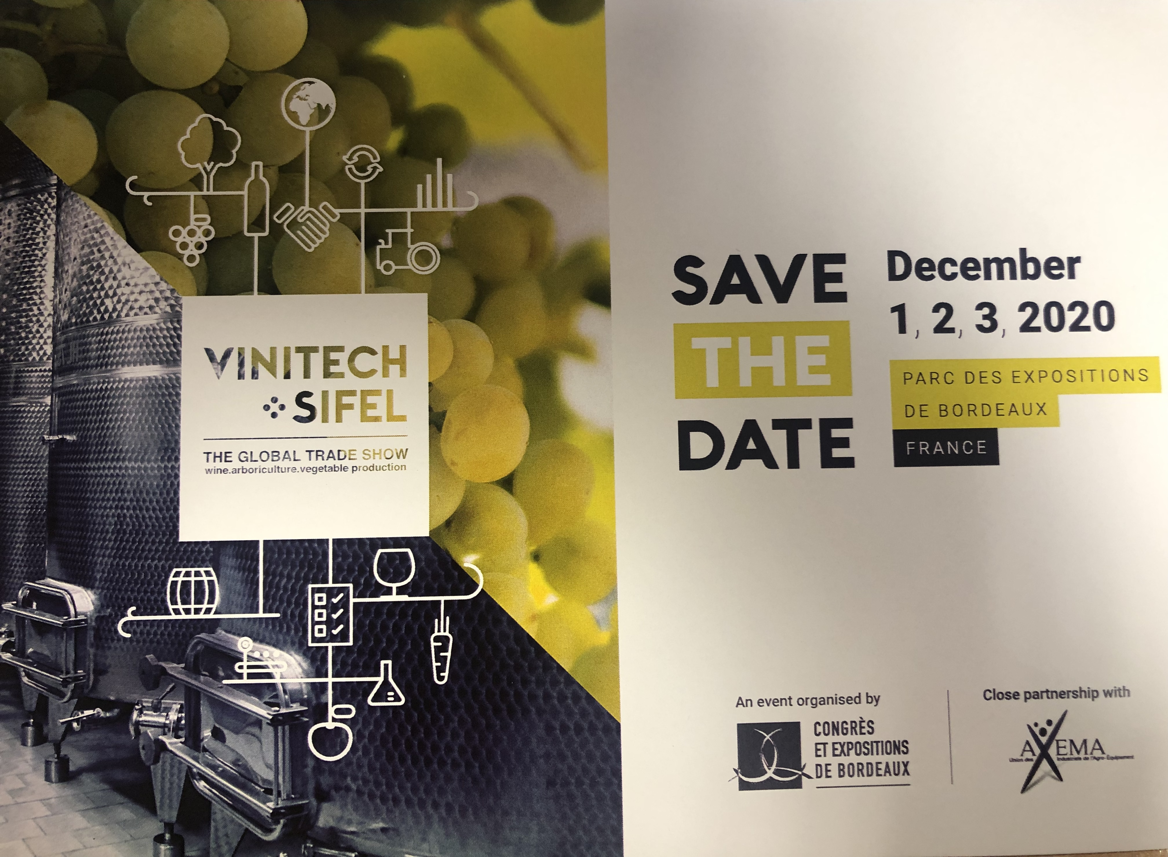 Vinitech Sifel SAVE THE DATE: 1,2,3 Décembre 2020