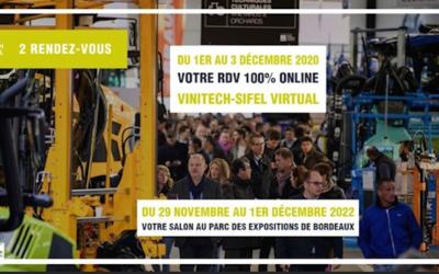Postponement Vinitech Sifel 2020 physical edition: Digital event « VINITECH-SIFEL VIRTUAL » from 1 to 3 December 2020