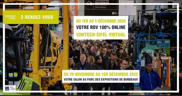 Postponement Vinitech Sifel 2020 physical edition: Digital event « VINITECH-SIFEL VIRTUAL » from 1 to 3 December 2020